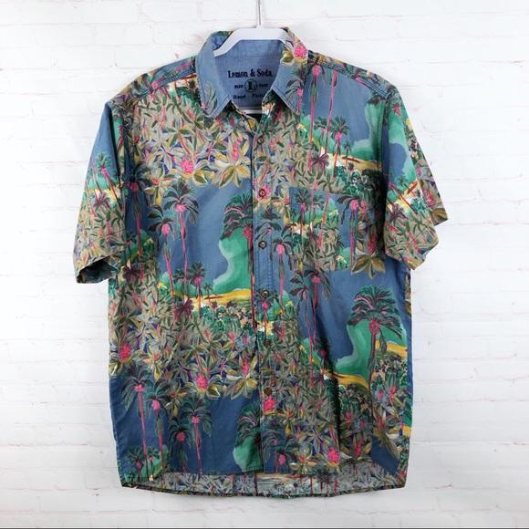 Lemon & Soda Other - Lemon & Soda Floral Button Down Shirt Vintage